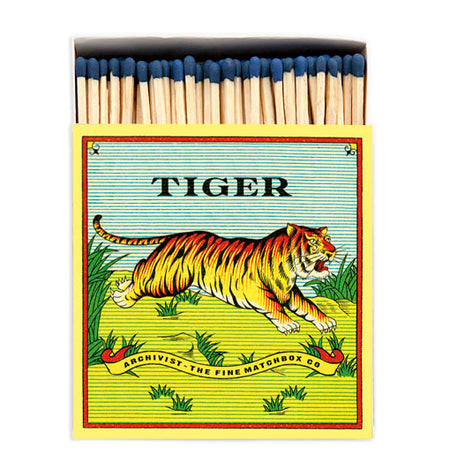 Archivist Premium Luxury Art Matches Tiger , Matches, Archivist, Working Title Clothing