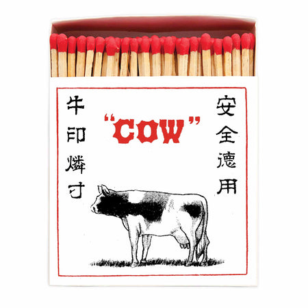 Archivist Premium Luxury Art Matches Japanese Cow , Matches, Archivist, Working Title Clothing