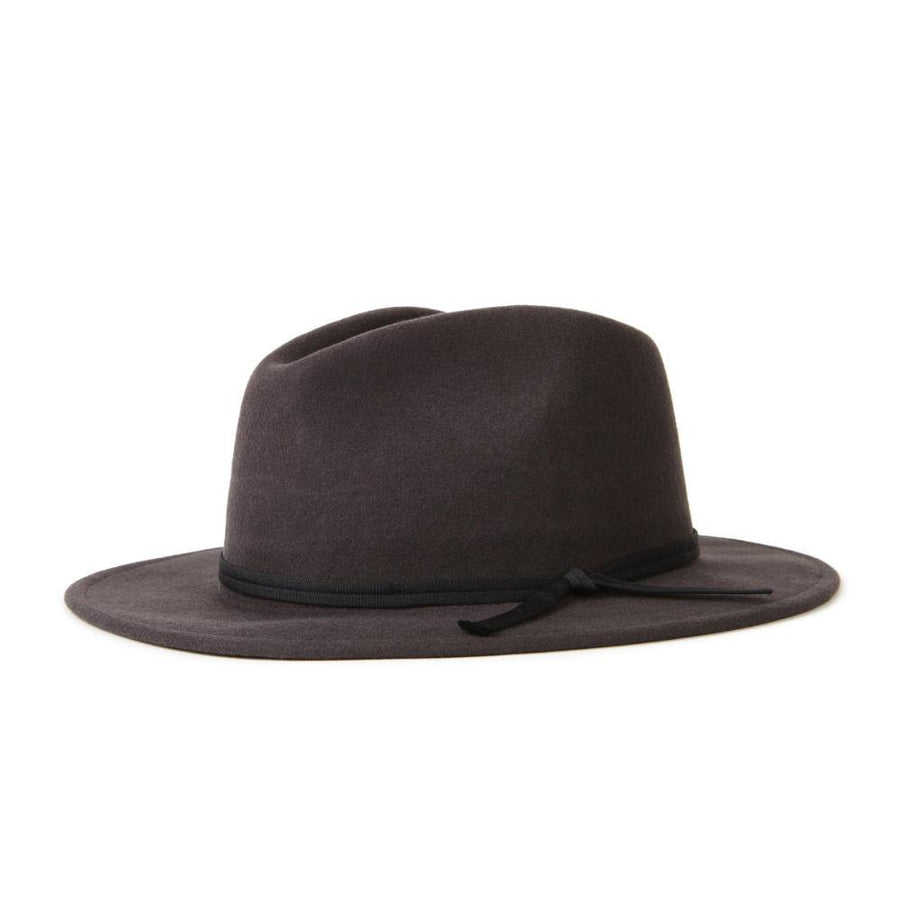 Brixton Coleman Fedora - Washed Black