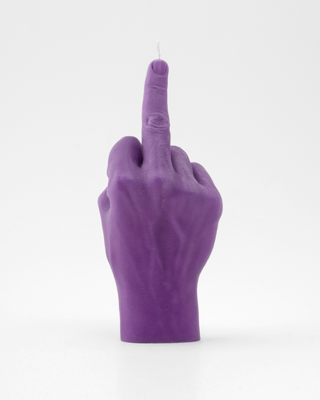 Candle Hand FCUK You Purple Hand Gesture candle , Candles, Candle Hand, Working Title