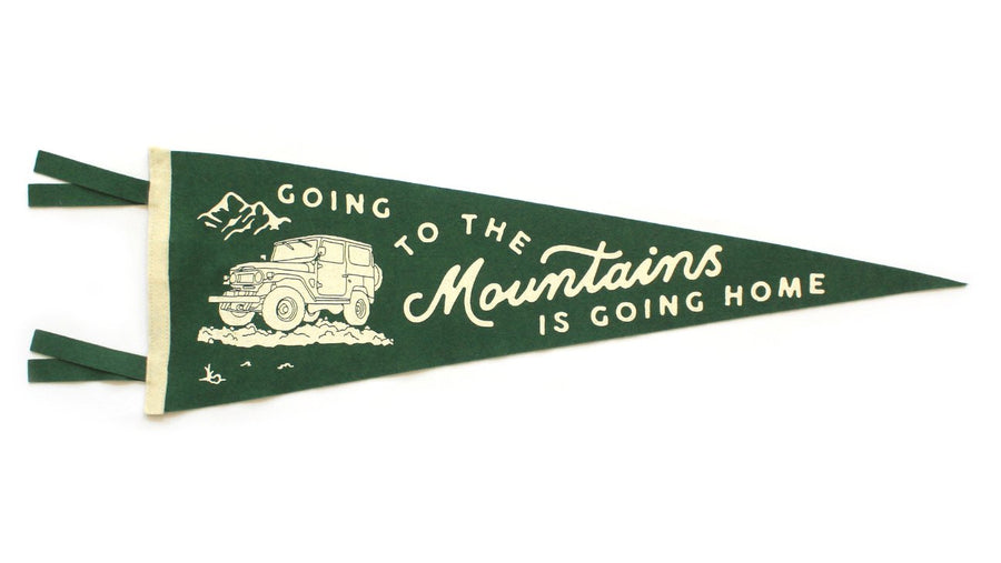 Oxford Pennant Going To The Mountains Wool Felt Pennant , Pennant, Oxford Pennant, Working Title