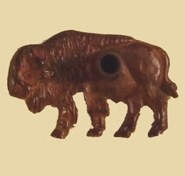 Paine Products Brass Buffalo Flat Incense Holder with 10 Balsam Logs , Incense Burner, Paine, Working Title
