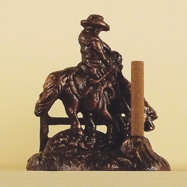 Paine Products Brass Bronze Finish Cowboy 3D Incense Holder , Incense Burner, Paine, Working Title