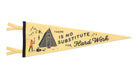 Oxford Pennant There Is No Substitute For Hard Work Wool Felt Pennant , Pennant, Oxford Pennant, Working Title