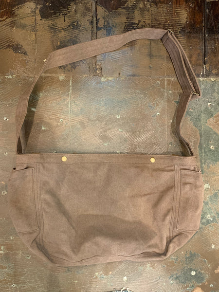 Working Title X Kerbside Newsboy Shoulder Canvas Bag With Hand Painted Patch - Felix Edition