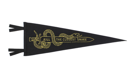 Oxford Pennant Kill The Closest Snake Wool Felt Pennant