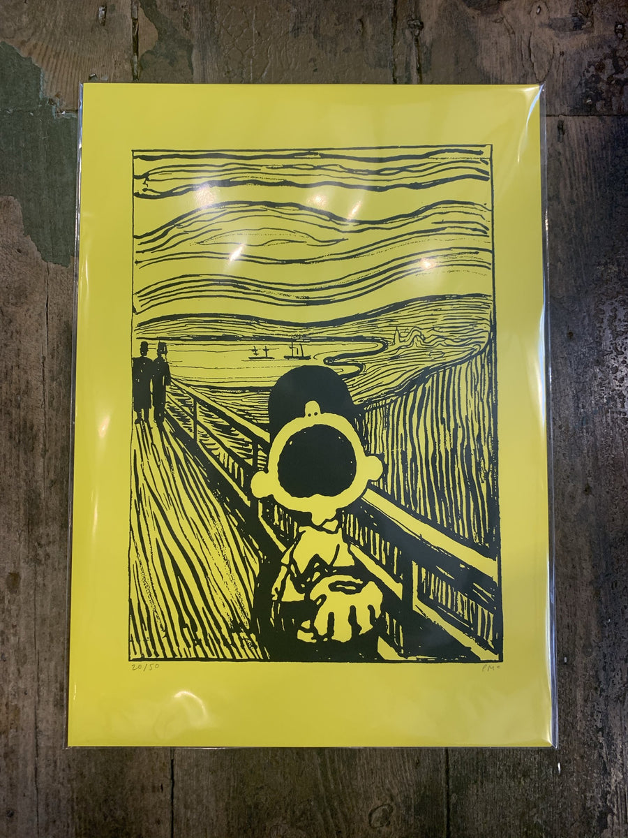 Charlie Brown X The Scream - Mandy Doubt - Print , Print, Art + Object, Working Title