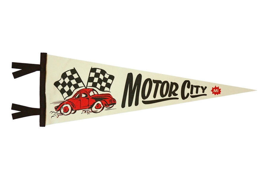 Oxford Pennant Motor City Wool Felt Pennant , Pennant, Oxford Pennant, Working Title