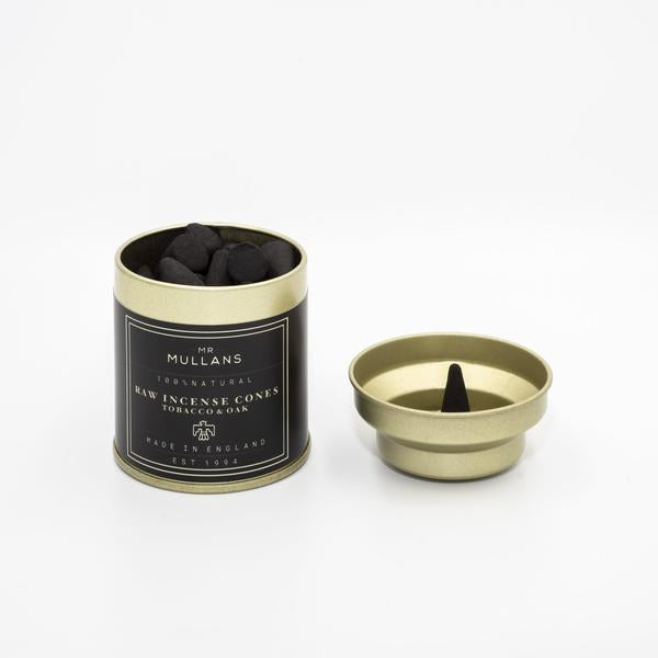 Mr Mullans Charcoal Incense Cones - Tobacco & Oak , Incense, Mr Mullan's, Working Title Clothing