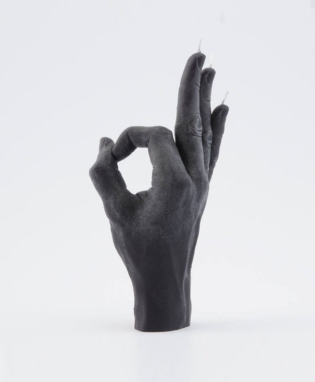 Candle Hand OK Black Hand Gesture candle , Candles, Candle Hand, Working Title Clothing