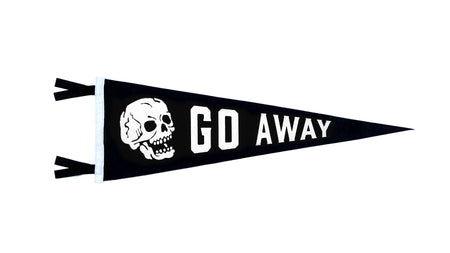 Oxford Pennant Go Away Wool Felt Pennant