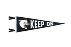 Oxford Pennant Keep On Wool Felt Pennant , Pennant, Oxford Pennant, Working Title