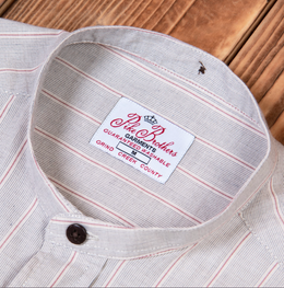 Pike Brothers 1923 Buccanoy Series Somerton Brown Mandarin Collar Shirt , Shirts, Pike Brothers, Working Title