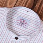Pike Brothers 1923 Buccanoy Series Swansea White Mandarin Collar Shirt , Shirts, Pike Brothers, Working Title