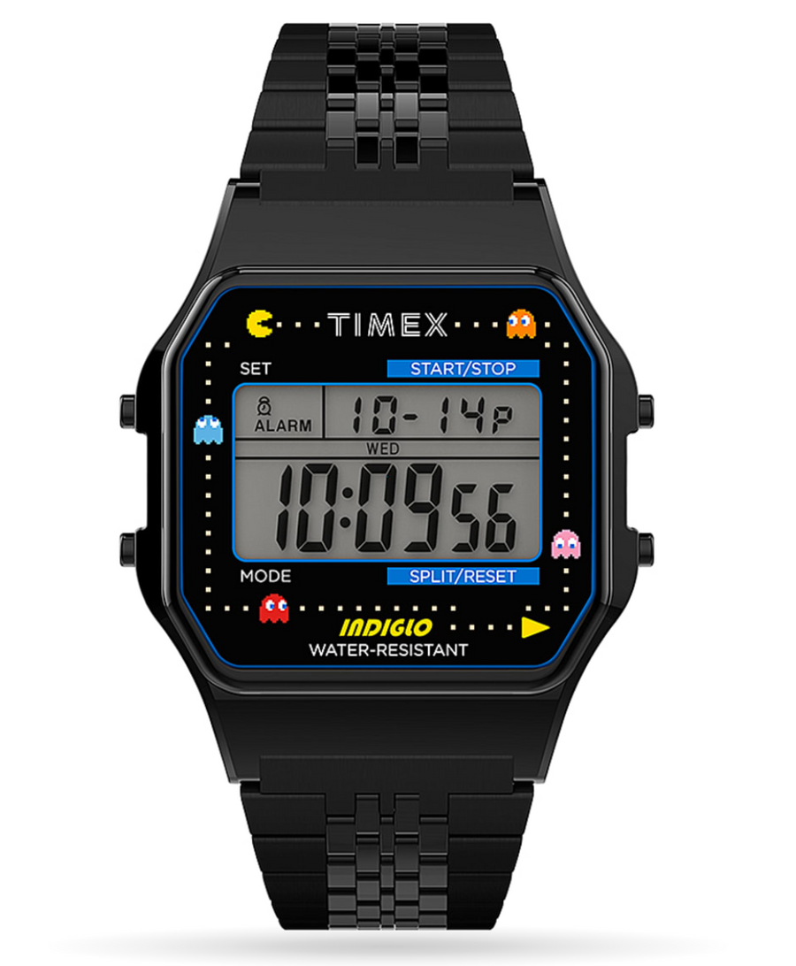 Timex T80 x PAC-MAN™ 34mm Stainless Steel Bracelet Watch - Black