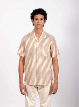 Kardo Lamar Ikat 27 Camp Collar Regular Fit Shirt