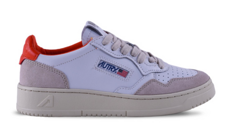 Autry Action Shoes Leather & Suede AULMLS40 - Orange & White