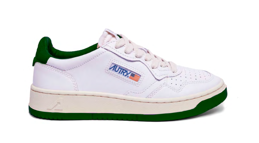 Autry Action Shoes 01 Bicolour AULM BB39 Green & White