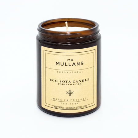 Mr Mullans Eco Soya Candle - Tobacco & Oak , Scented Candles, Mr Mullan's, Working Title