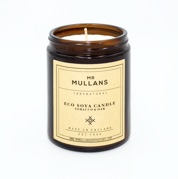 Mr Mullans Eco Soya Candle - Tobacco & Oak , Candles, Mr Mullan's, Working Title Clothing