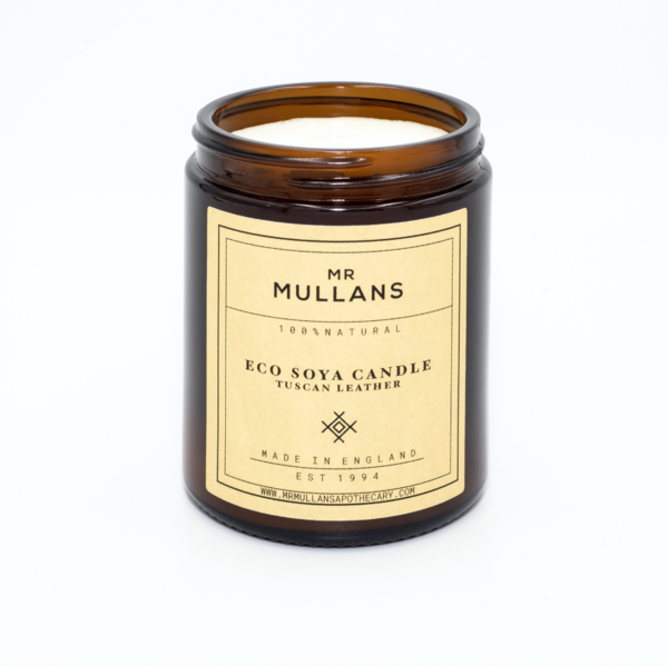 Mr Mullans Eco Soya Candle - Tuscan Leather , Candles, Mr Mullan's, Working Title Clothing