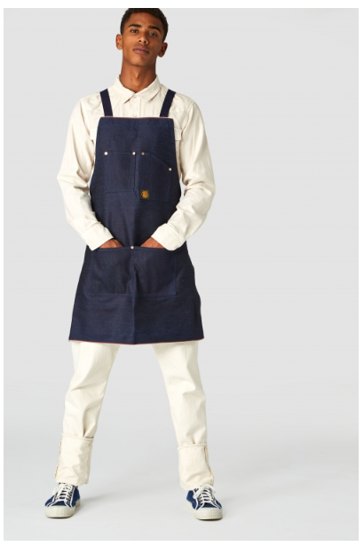 Kings Of Indigo Selvedge Denim Apron , Apron, Kings Of Indigo, Working Title Clothing