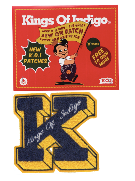 Kings Of Indigo Varsity Chenille K Badge Sew On Patch , Patch, Kings Of Indigo, Working Title
