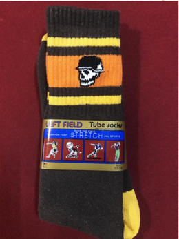 Left Field NYC Skull Tube Socks - 70's Van
