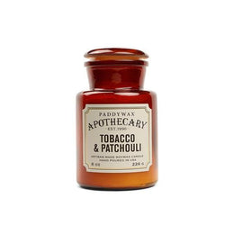 Paddywax Apothecary 8oz Glass Candle - Tobacco & Patchouli