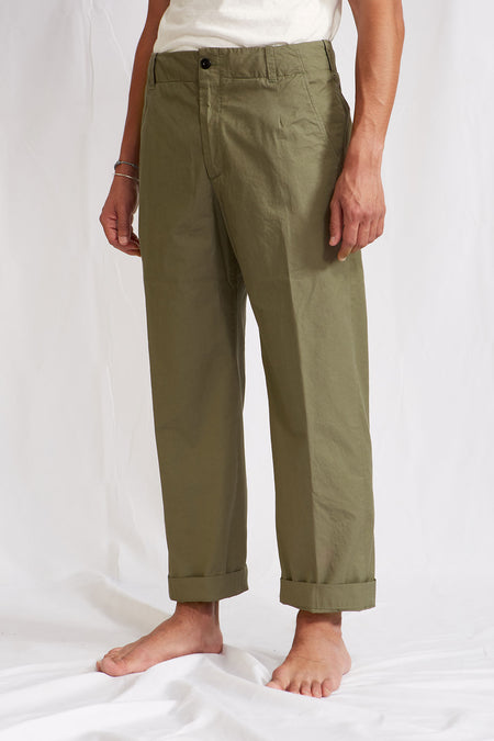 ABCL Garments Wide Hard Twist Cotton Trousers
