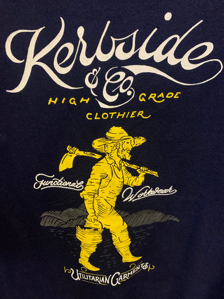 Kerbside Navy Back Utilitarian Worker Print Pocket T-Shirt , T-Shirts, Kerbside, Working Title