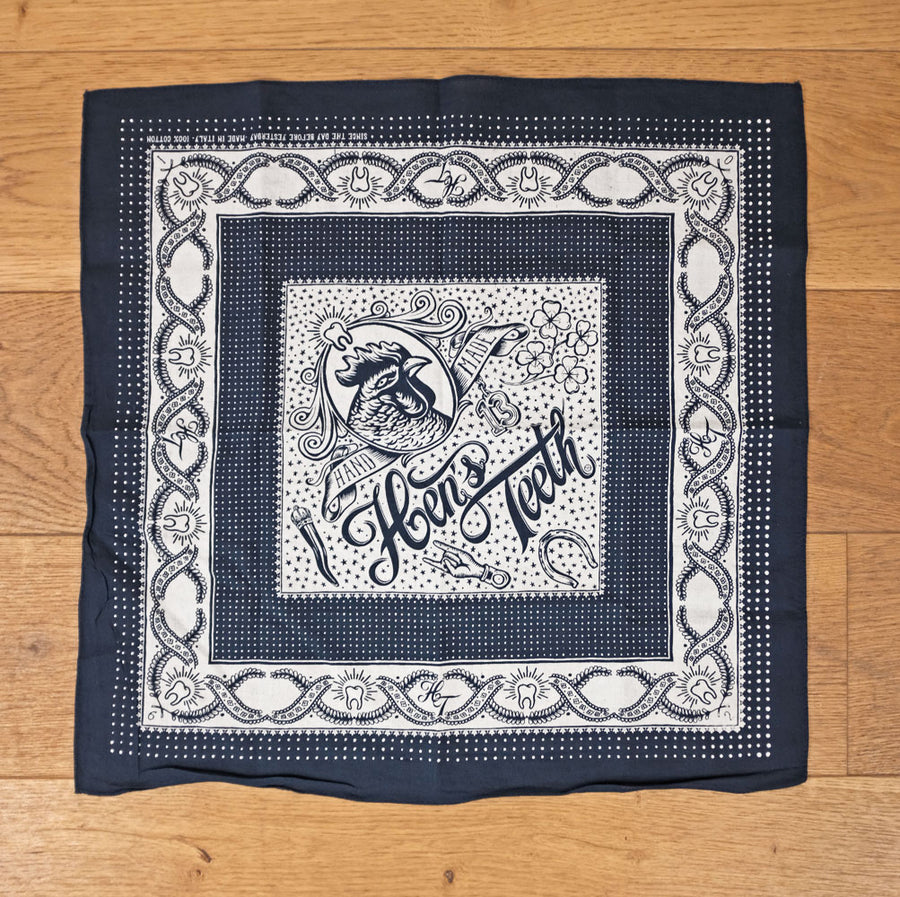 Hen's Teeth Navy Bandana Neckerchief