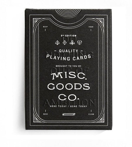 Misc Goods Co. Playing Cards Black , Playing Cards, Misc Goods Co., Working Title