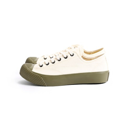 Dublinware Cork Ivory & Green Vulcanised Sneakers , Trainers, Dublinware, Working Title