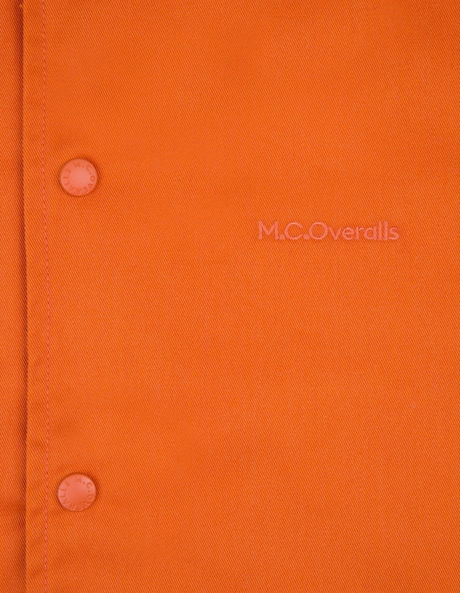 McOveralls Poly Cotton Snap Shirt Orange , Shirts, M.C.Overalls, Working Title Clothing
