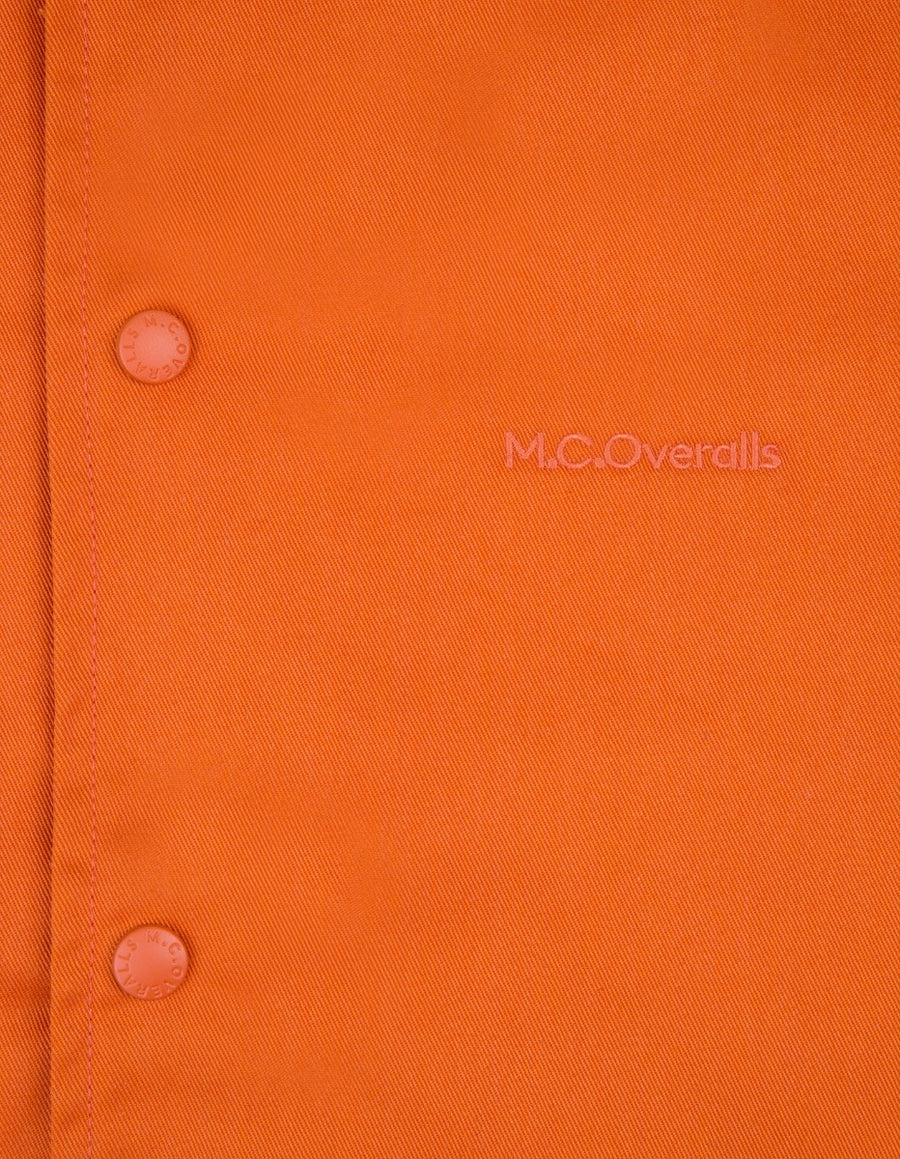 McOveralls Poly Cotton Snap Shirt Orange , Shirts, M.C.Overalls, Working Title