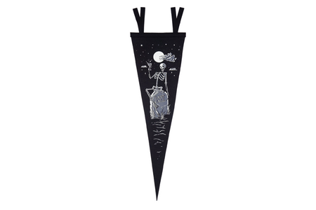 Oxford Pennant Last Call, Glow In The Dark Wool Felt Pennant