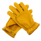Kytone Gold Leather Gloves CE , Gloves, Kytone, Working Title