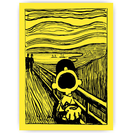 Charlie Brown X The Scream - Mandy Doubt - Greeting Card , Greetings Cards, Art + Object, Working Title