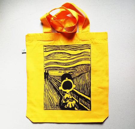 Charlie Brown X The Scream - Mandy Doubt - Tote Bag , Tote, Art + Object, Working Title