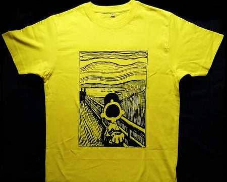 Charlie Brown X The Scream - Mandy Doubt - T-shirt , T-Shirts, Art + Object, Working Title