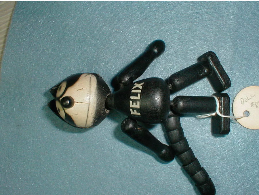 "Felix The Cat 1925 4"" Painted Wooden String Doll , Toys, Art + Object, Working Title"