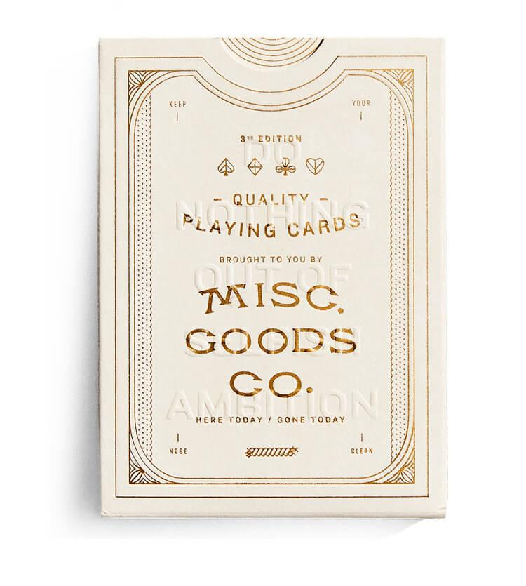 Misc Goods Co. Playing Cards Ivory , Playing Cards, Misc Goods Co., Working Title
