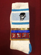 Left Field NYC Skull Tube Socks - Jaw Breaker Confetti White/Blue , Socks, Left Field NYC, Working Title