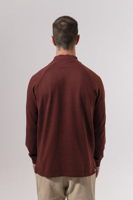 Unfeigned Gear Long Sleeve Smock Neck T-Shirt - Andorra Red