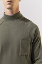 Unfeigned Gear Long Sleeve Smock Neck T-Shirt - Dusty Olive