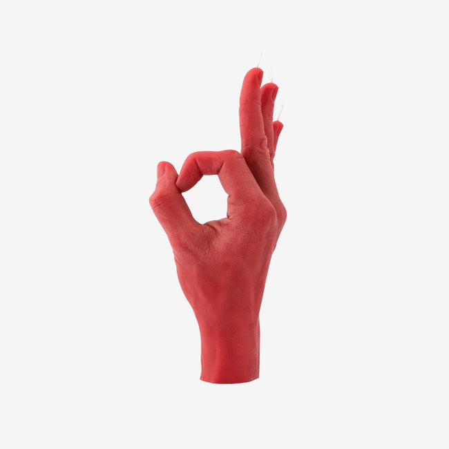 Candle Hand OK Red Hand Gesture Candle