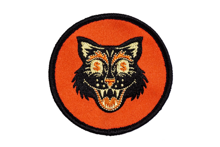 Oxford Pennant Money Cat Embroidered Patch