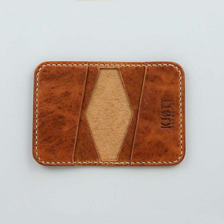 Kjøtt Supply Co. 4 Pocket Bifold Horween Dublin Natural Thread - Stacked Logo , Wallets, Kjøtt Supply Co., Working Title
