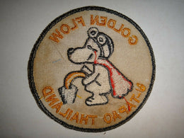 Snoopy 'Golden Flow' UTAPAO Vietnam War Patch - Rare